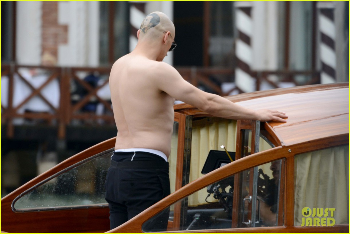 james franco covers his bald head at the sound the fury venice film 153189850