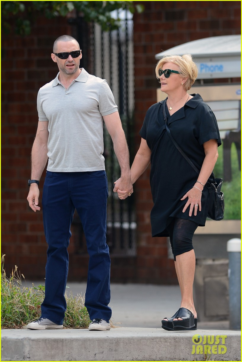hugh jackman looks lovey dovey with wife after shaving his beard 013188444