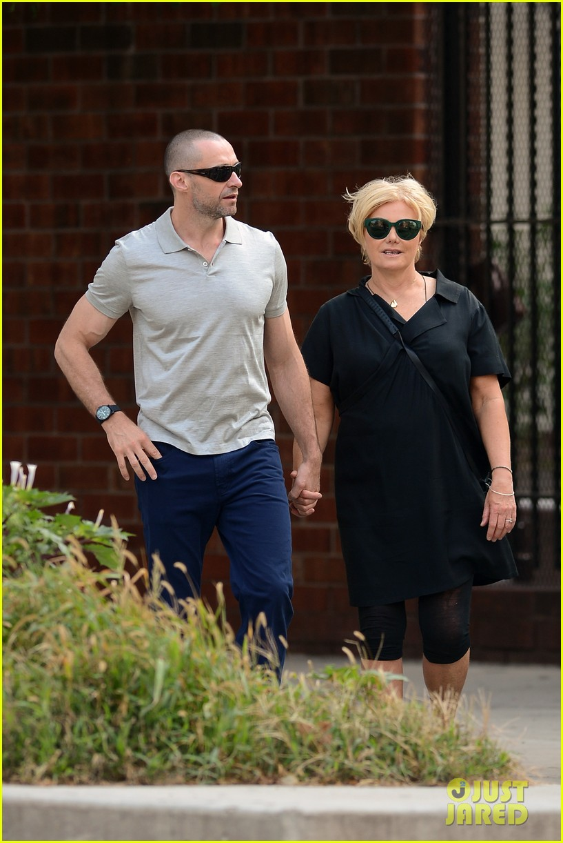 hugh jackman looks lovey dovey with wife after shaving his beard 043188447