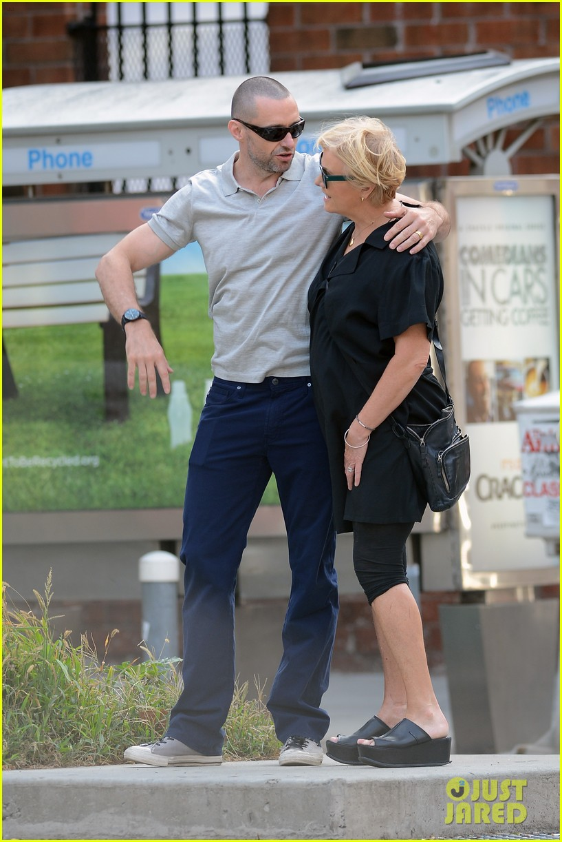 hugh jackman looks lovey dovey with wife after shaving his beard 053188448