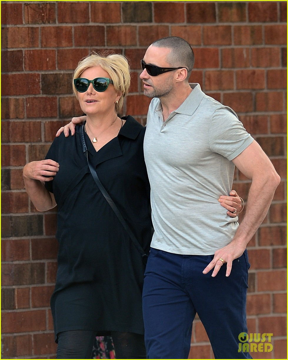 hugh jackman looks lovey dovey with wife after shaving his beard 11