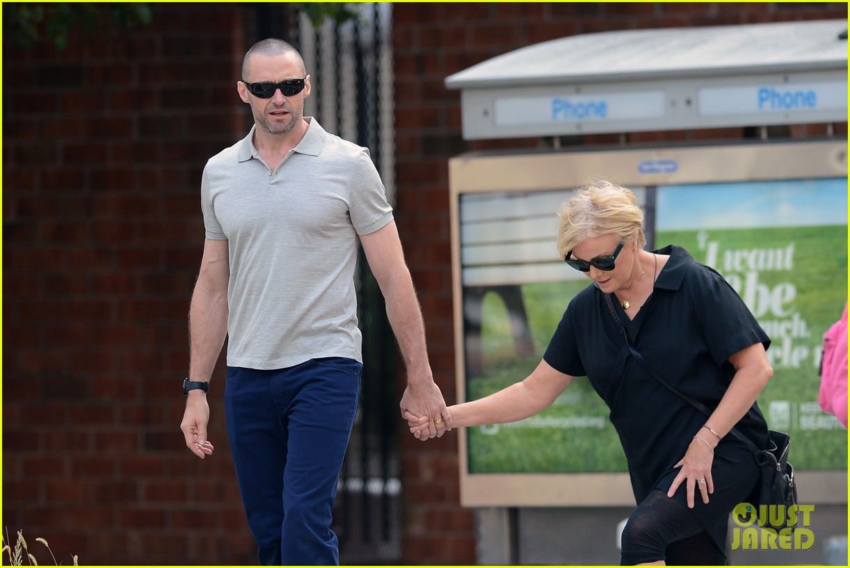 hugh jackman looks lovey dovey with wife after shaving his beard 133188456