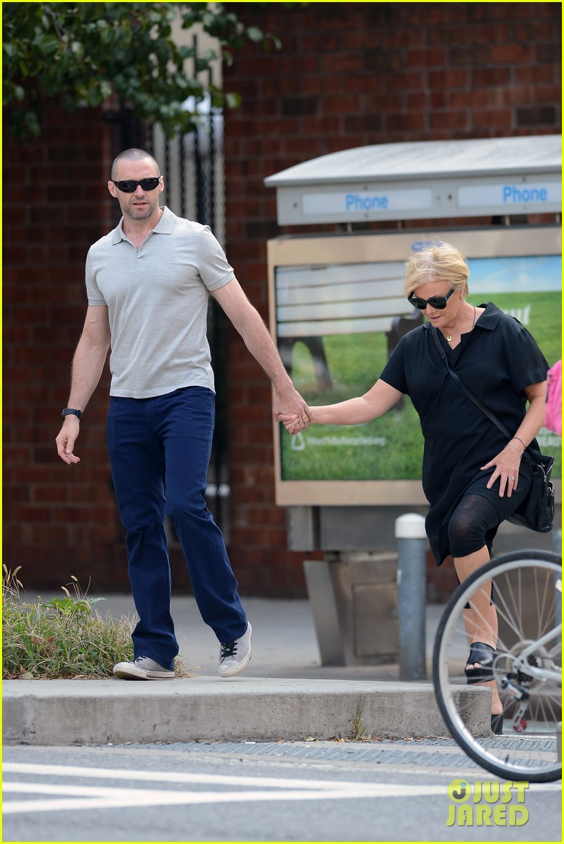 hugh jackman looks lovey dovey with wife after shaving his beard 163188459