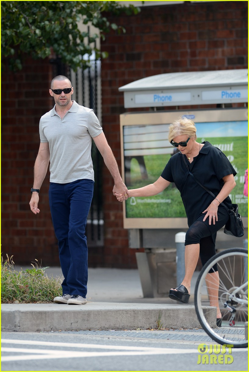 hugh jackman looks lovey dovey with wife after shaving his beard 173188460