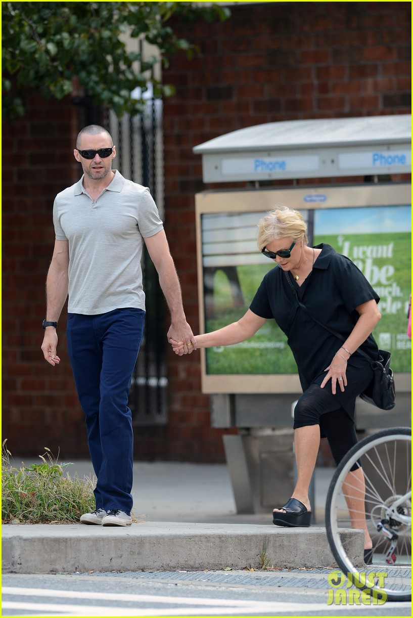 hugh jackman looks lovey dovey with wife after shaving his beard 183188461