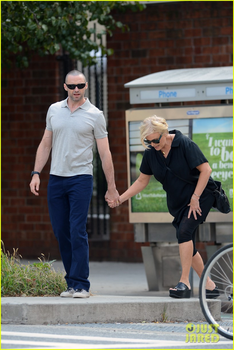 hugh jackman looks lovey dovey with wife after shaving his beard 203188463