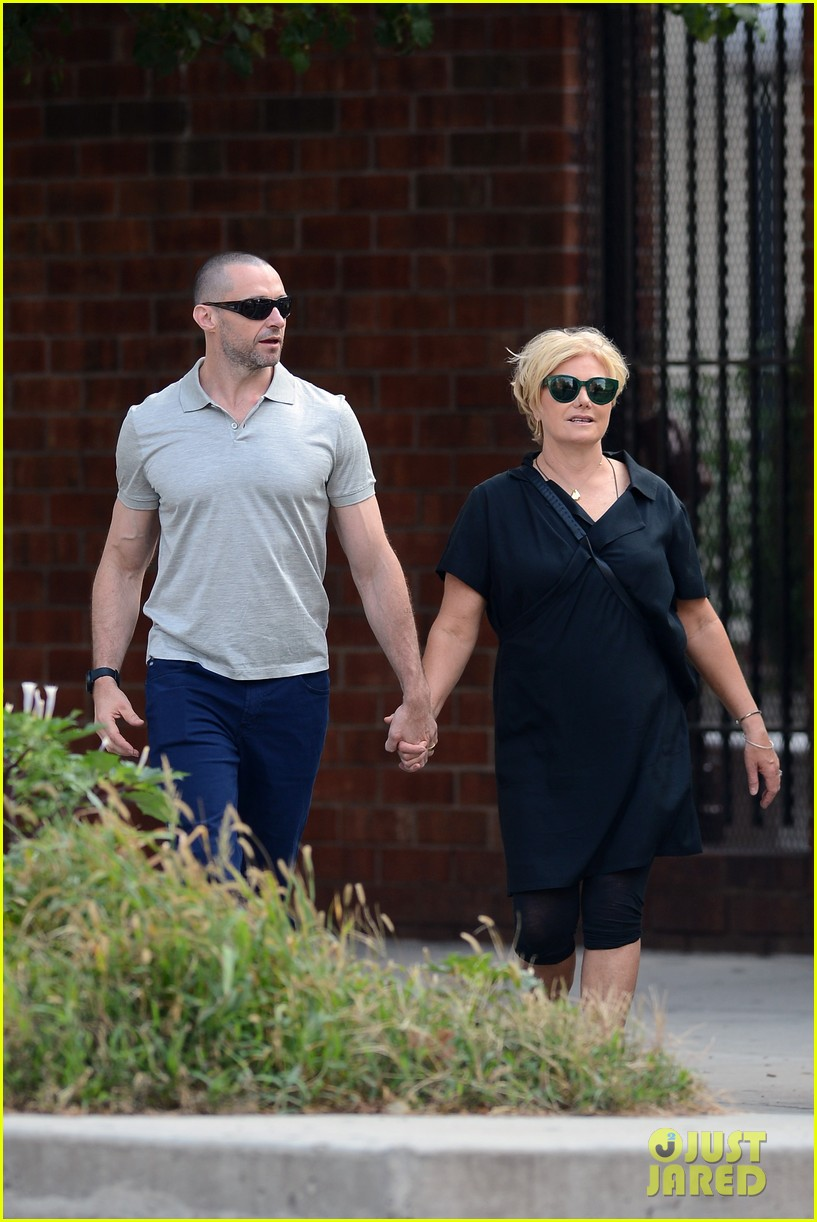 hugh jackman looks lovey dovey with wife after shaving his beard 233188466