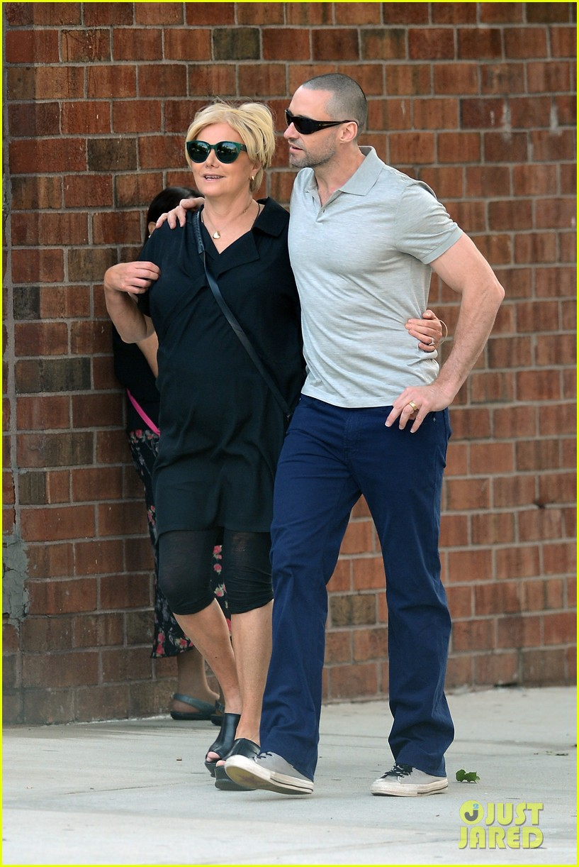 hugh jackman looks lovey dovey with wife after shaving his beard 243188467