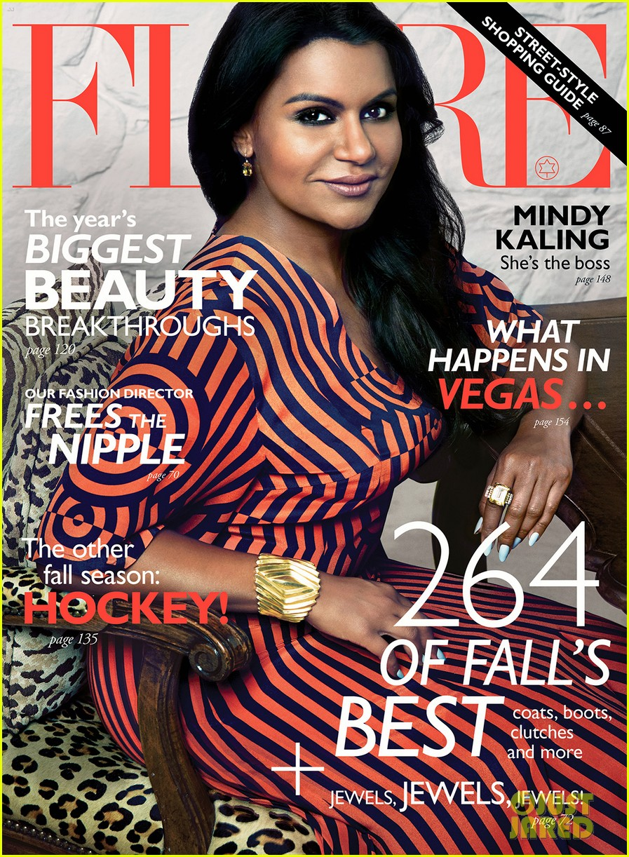 mindy kaling covers flare october 2014 exclusive pic 013187957