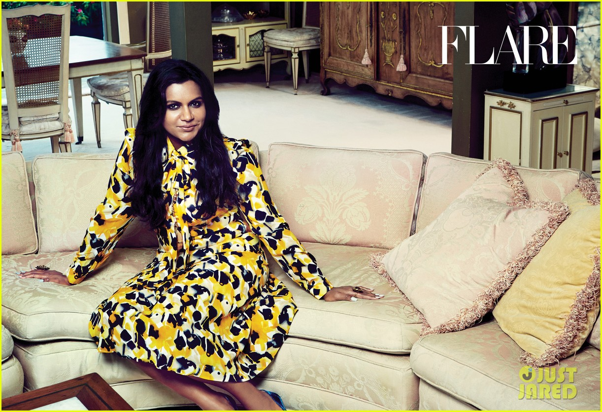 mindy kaling covers flare october 2014 exclusive pic 023187958