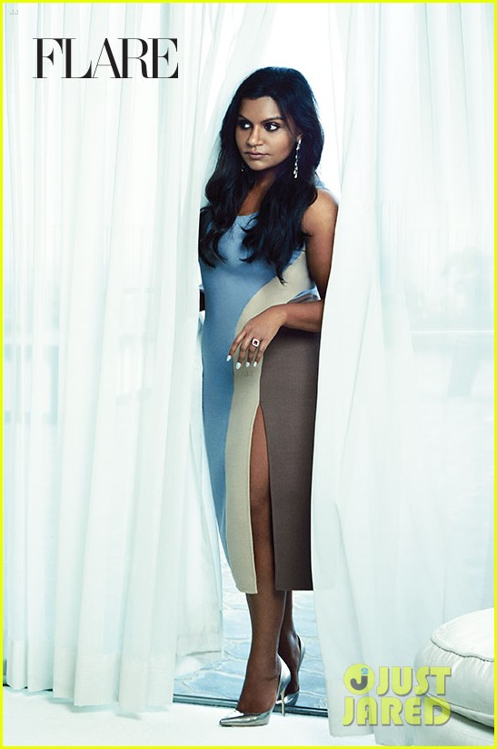 mindy kaling covers flare october 2014 exclusive pic 053187961