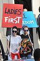 kendall jenner cara delevingne protest after karl largerfield runway 18
