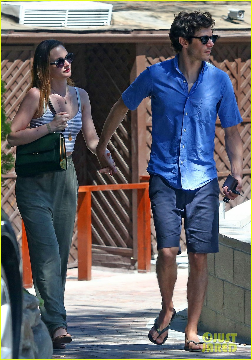 leighton meester adam brody share sweet embrace after lunch 103187294