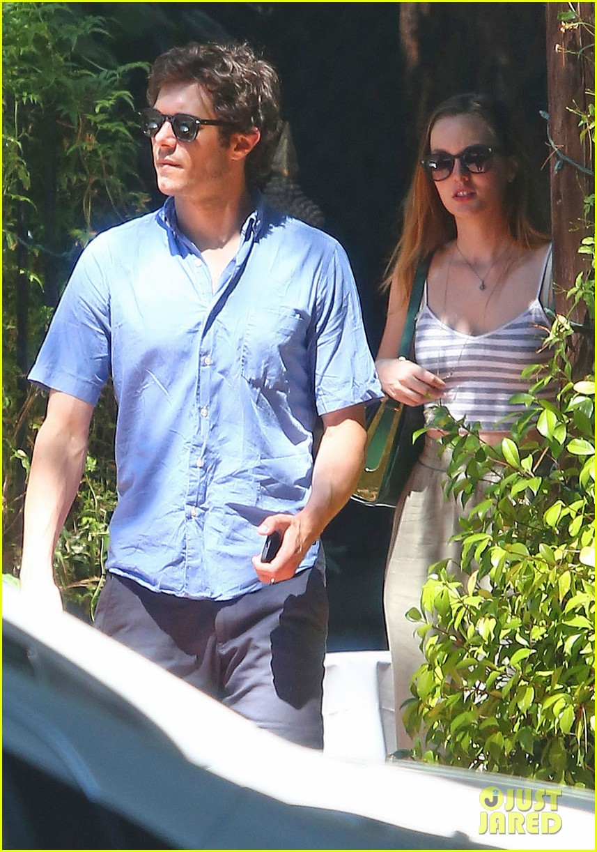 leighton meester adam brody share sweet embrace after lunch 143187298