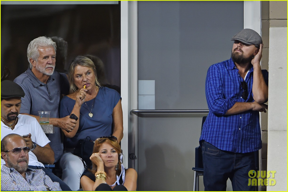 leonardo dicaprio us open with mom irmelin 093189021