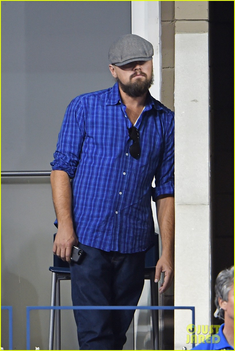 leonardo dicaprio us open with mom irmelin 103189022