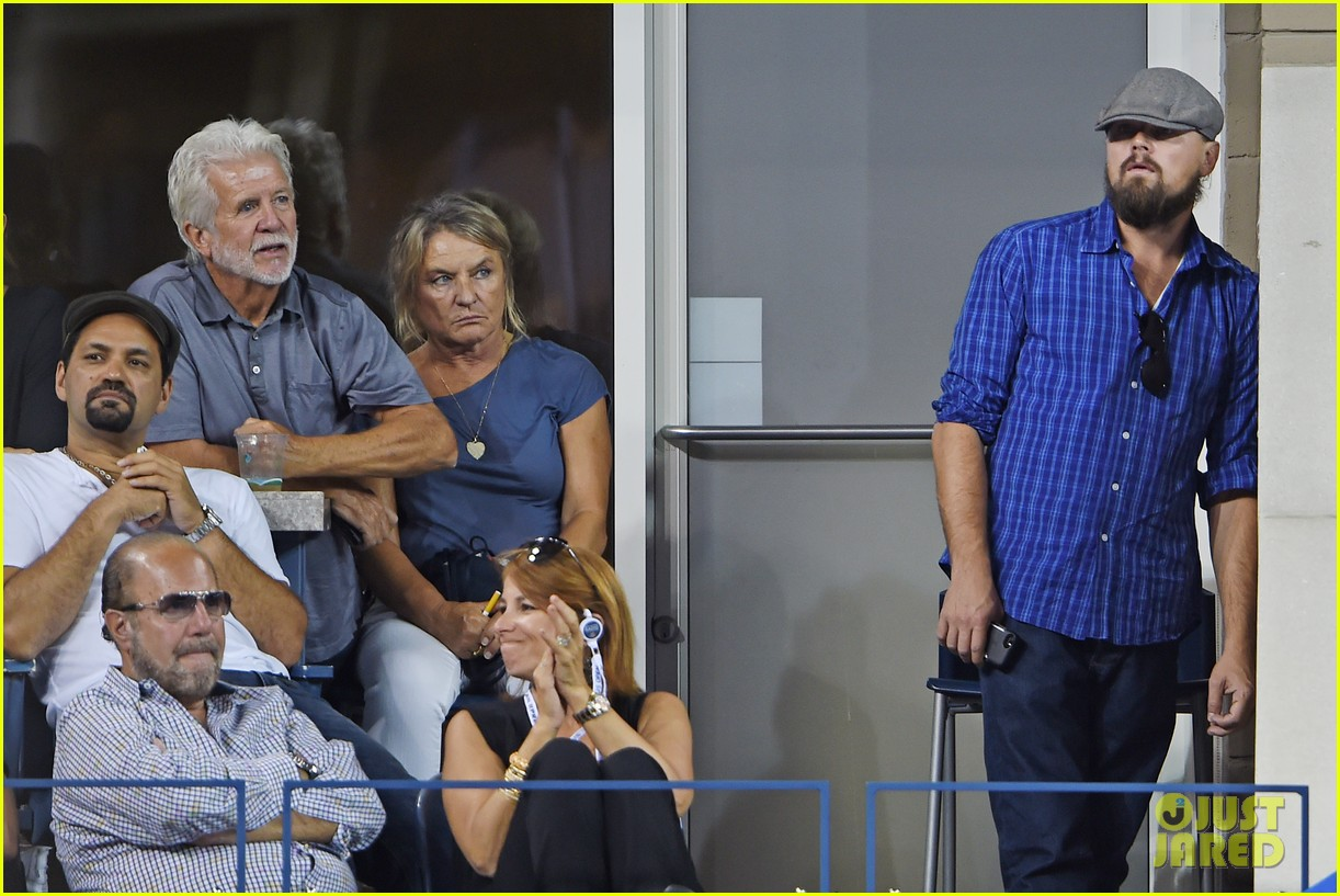 leonardo dicaprio us open with mom irmelin 113189023