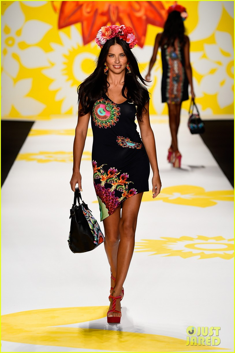adriana lima walks the runway for desigual fashion show 073189473