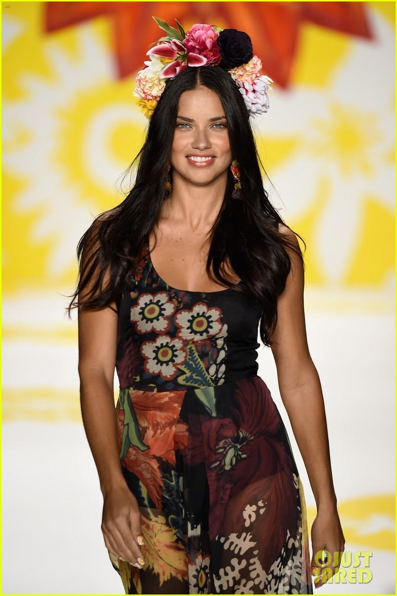 adriana lima walks the runway for desigual fashion show 093189475