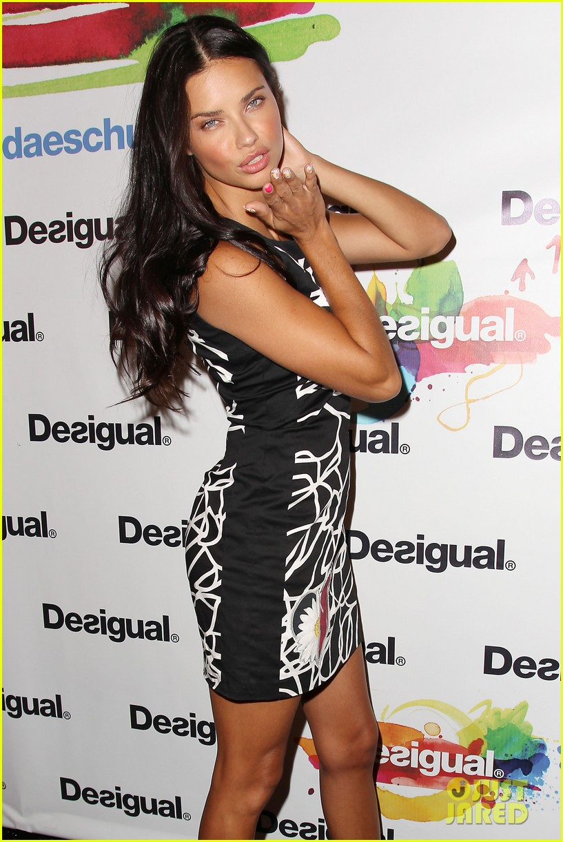 adriana lima walks the runway for desigual fashion show 253189491