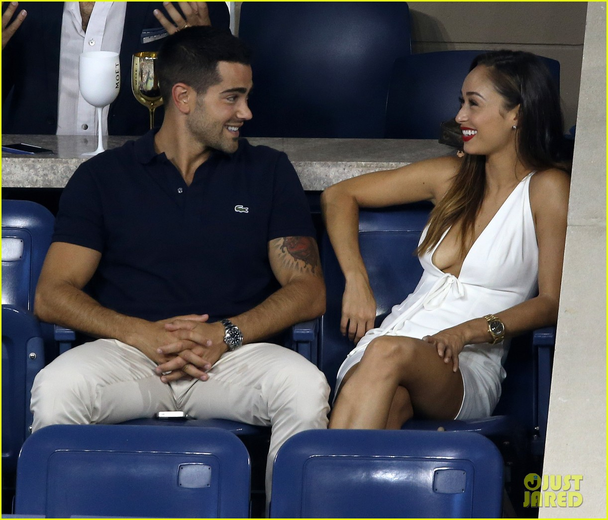 jesse metcalfe cara santana watch the us open with moet 083188903