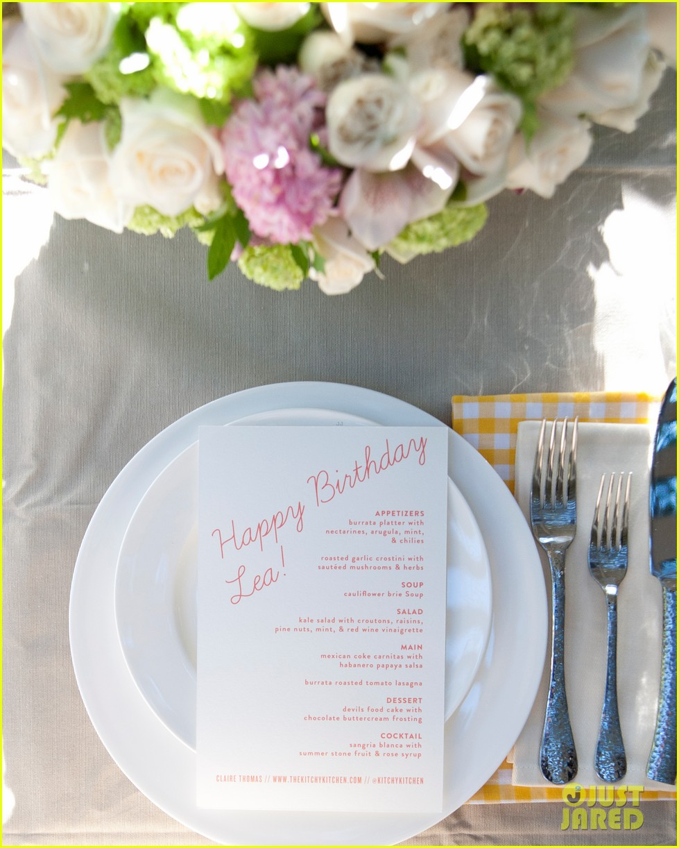 lea michele birthday dinner 023187407