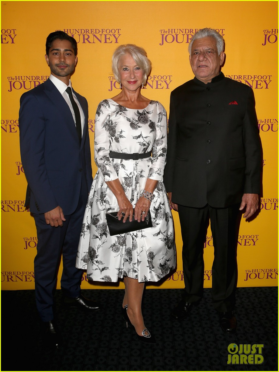 helen mirren joins co stars at hundred foot journey uk gala 053188978