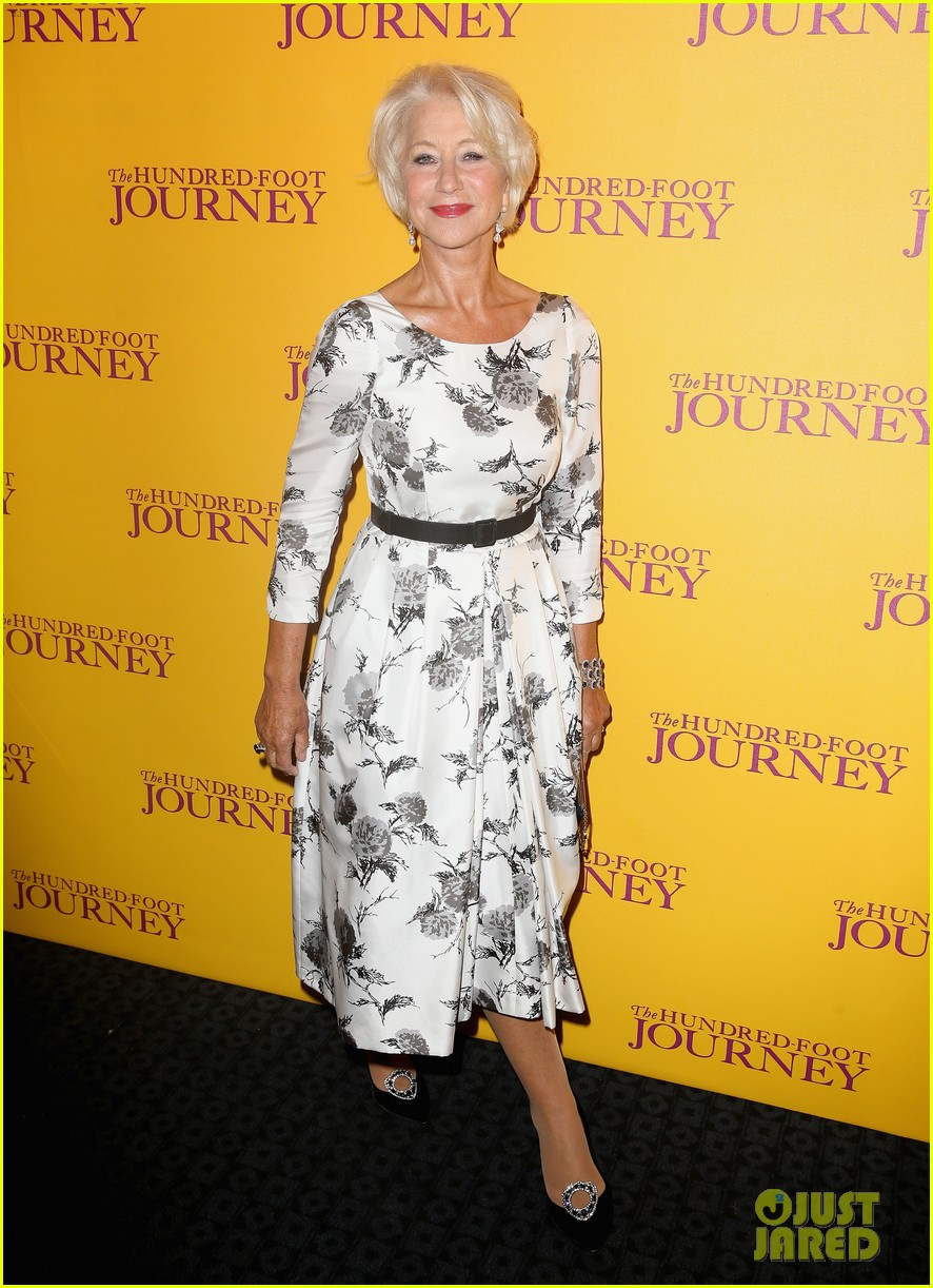 helen mirren joins co stars at hundred foot journey uk gala 073188980