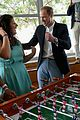 prince william plays foosball video games kids malta 15