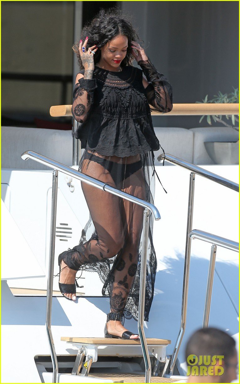 rihanna wears see through cover up on vacation 023189176
