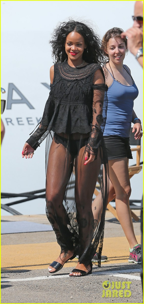 rihanna wears see through cover up on vacation 043189178