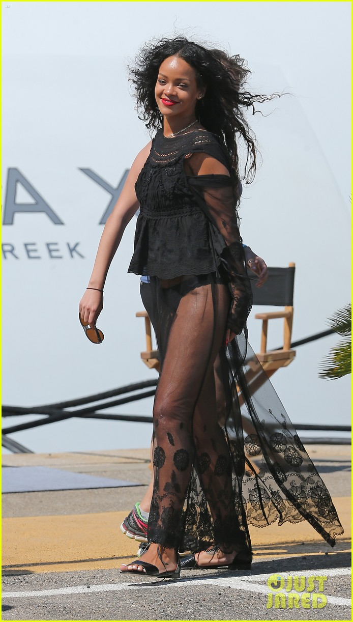 rihanna wears see through cover up on vacation 093189183