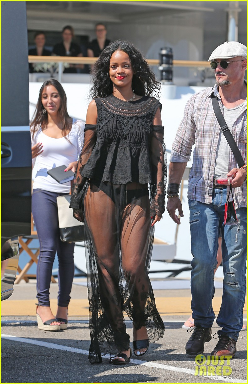 rihanna wears see through cover up on vacation 123189186