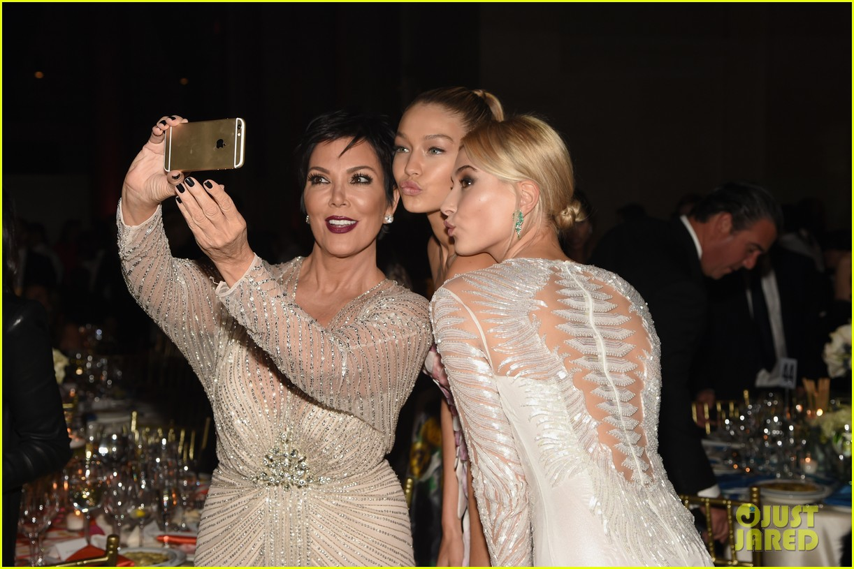 hailey baldwin gigi hadid stun support cancer research at angel ball 2014 023223684