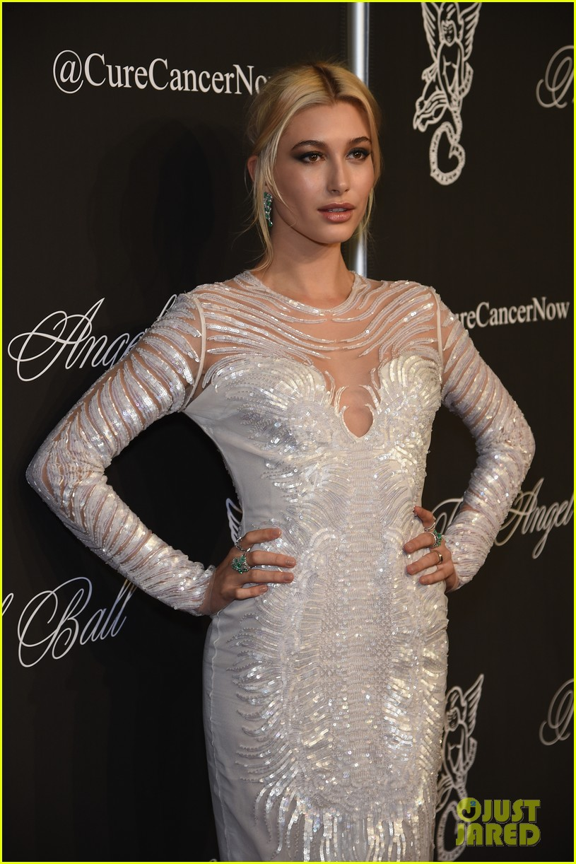 hailey baldwin gigi hadid stun support cancer research at angel ball 2014 073223689