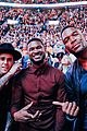 justin bieber usher hang out at lebron james home coming game 02