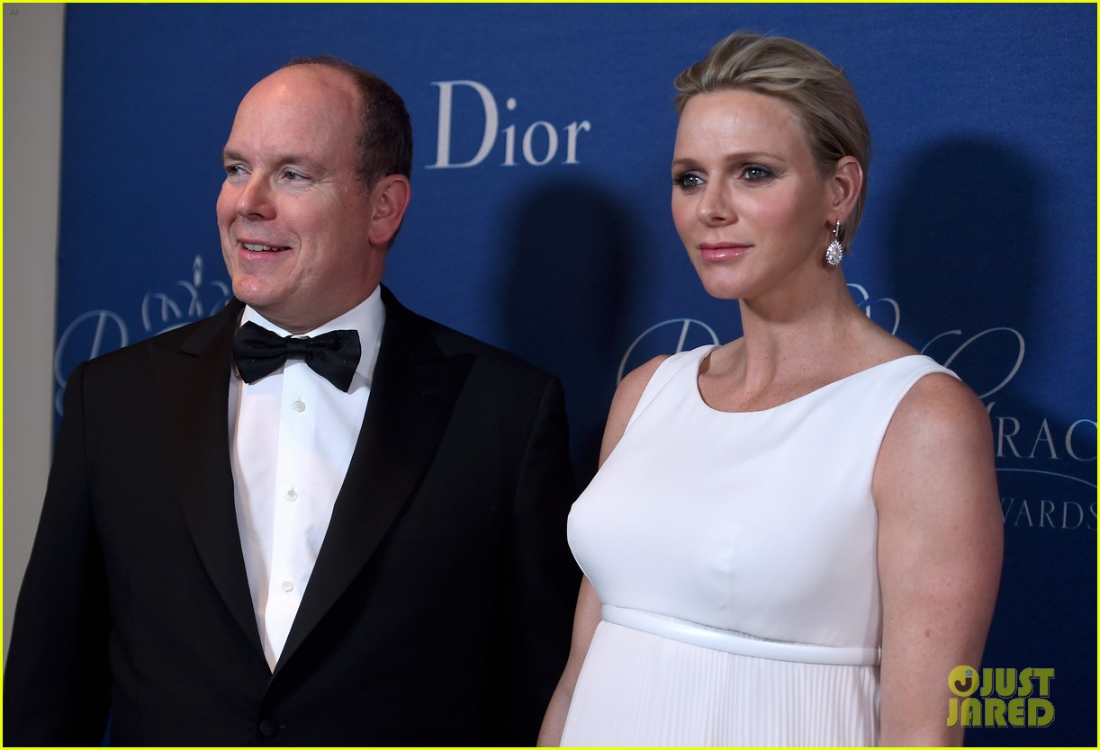 princess charlene hits the red carpet is pregnant with twins 013214412