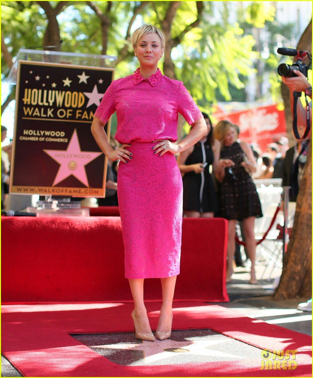 Kaley Cuoco Receives A Star On The Hollywood Walk Of Fame