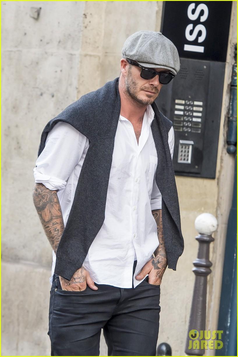 0904f254f5274 David Beckham is a Solo Shopper at Saint Laurent in Paris  Photo ...