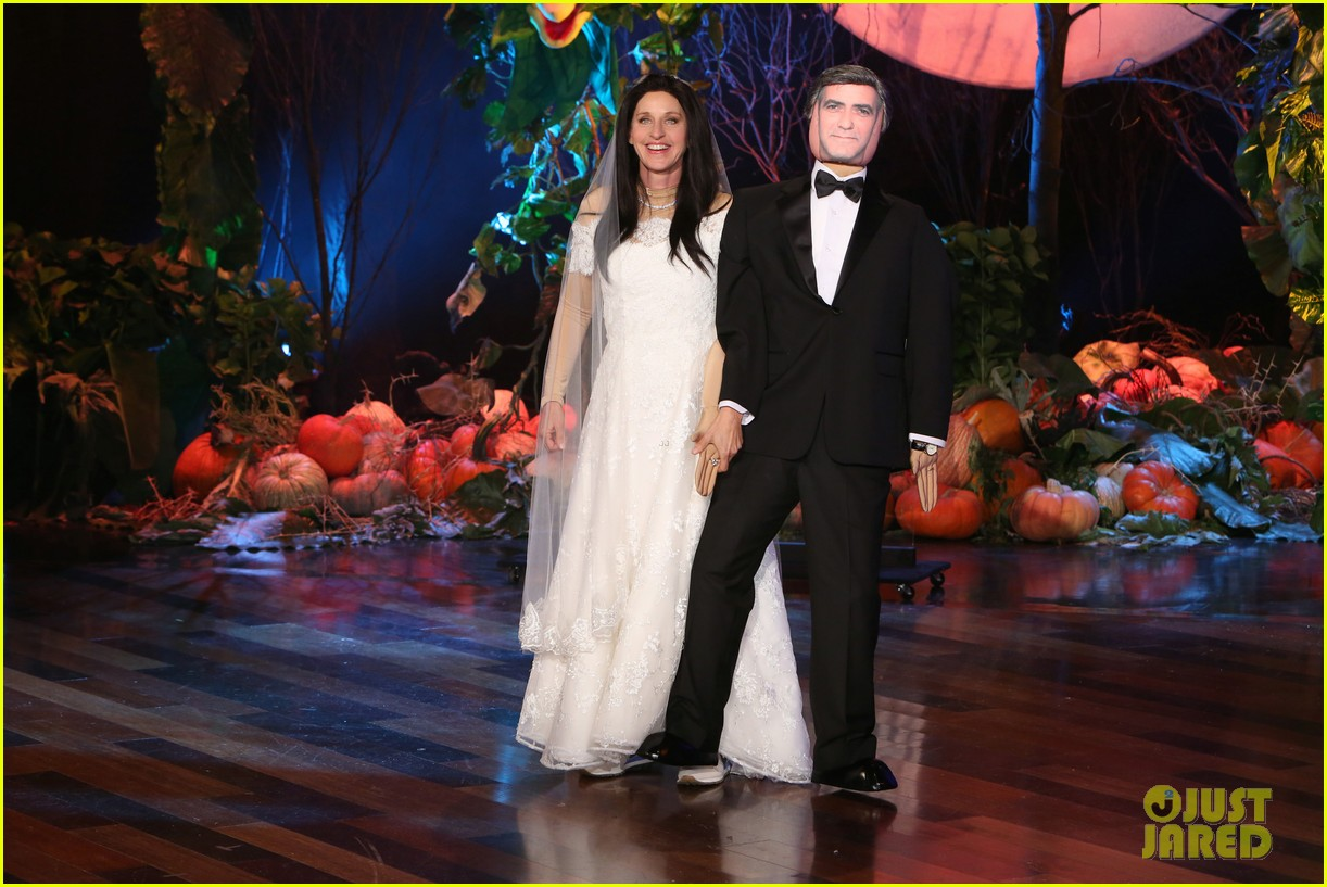 Ellen Degeneres Is Amal Clooney For Halloween Costume 2014