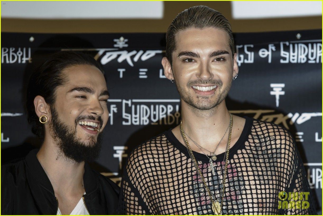 tokio hotel celebrate kings of suburbia release at berlin press 113209675