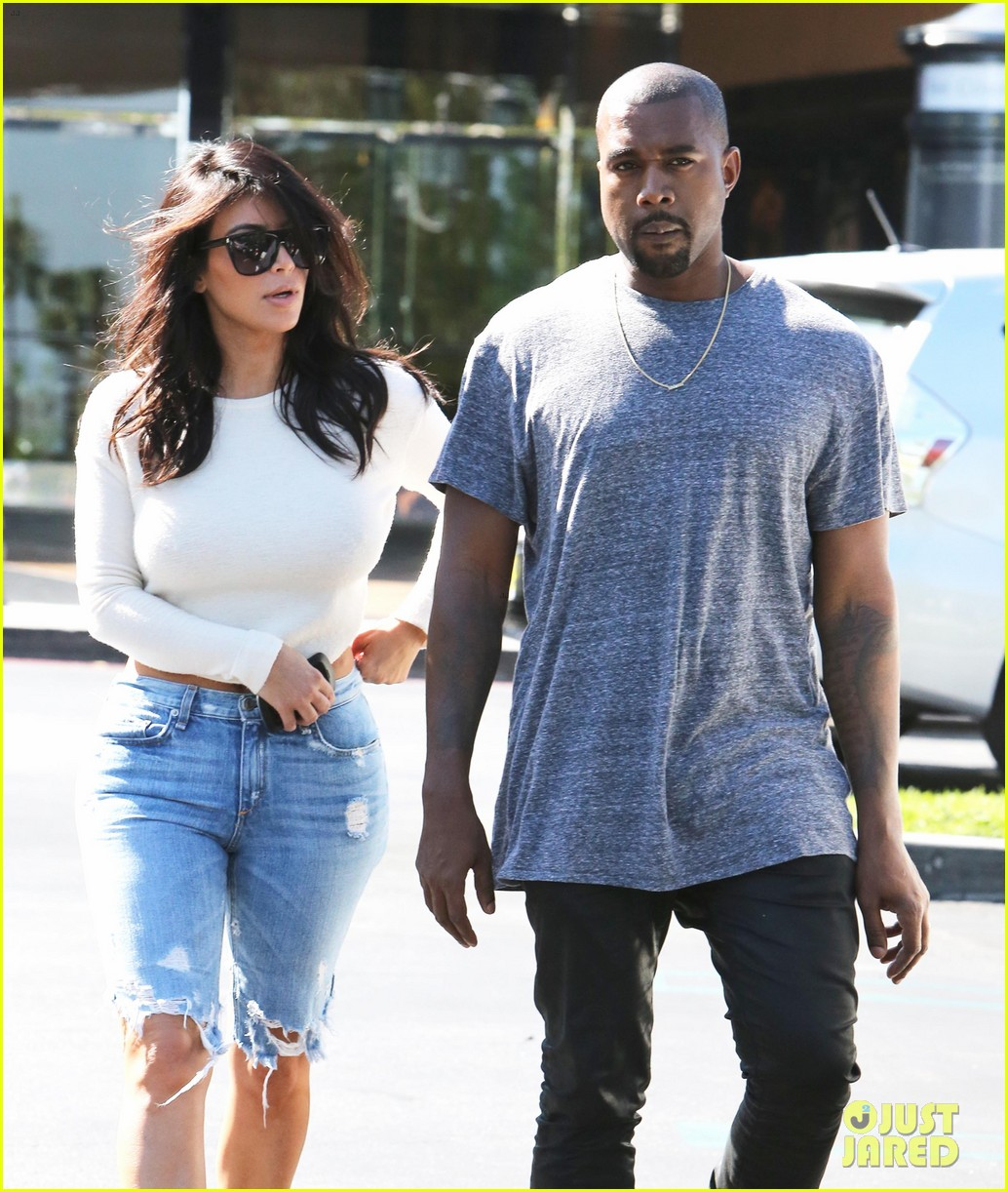 668aac13a637e Kim Kardashian Wears Open-Back Shirt for Sunday Date with Kanye West ...