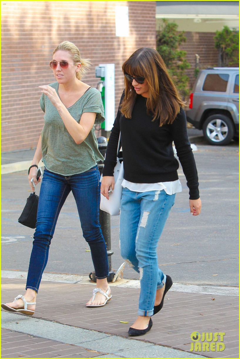 lea michele drops by police station before soa 183219239
