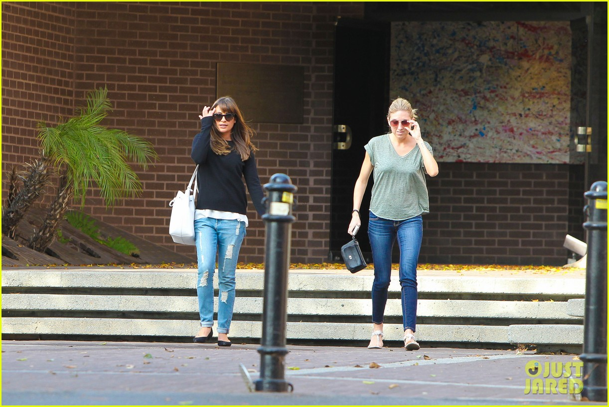 lea michele drops by police station before soa 203219241
