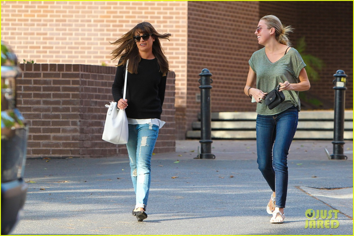 lea michele drops by police station before soa 223219243