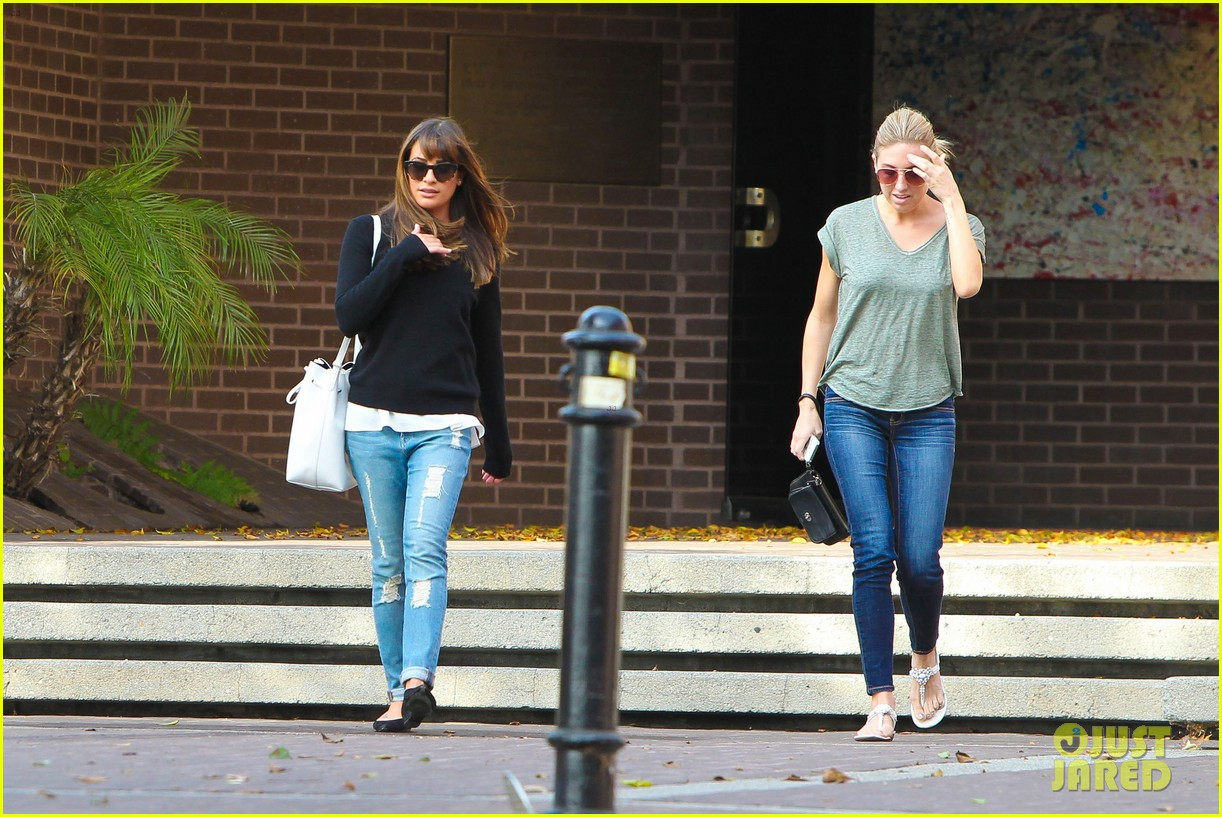 lea michele drops by police station before soa 263219247