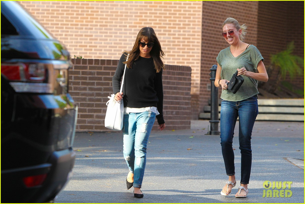 lea michele drops by police station before soa 303219251