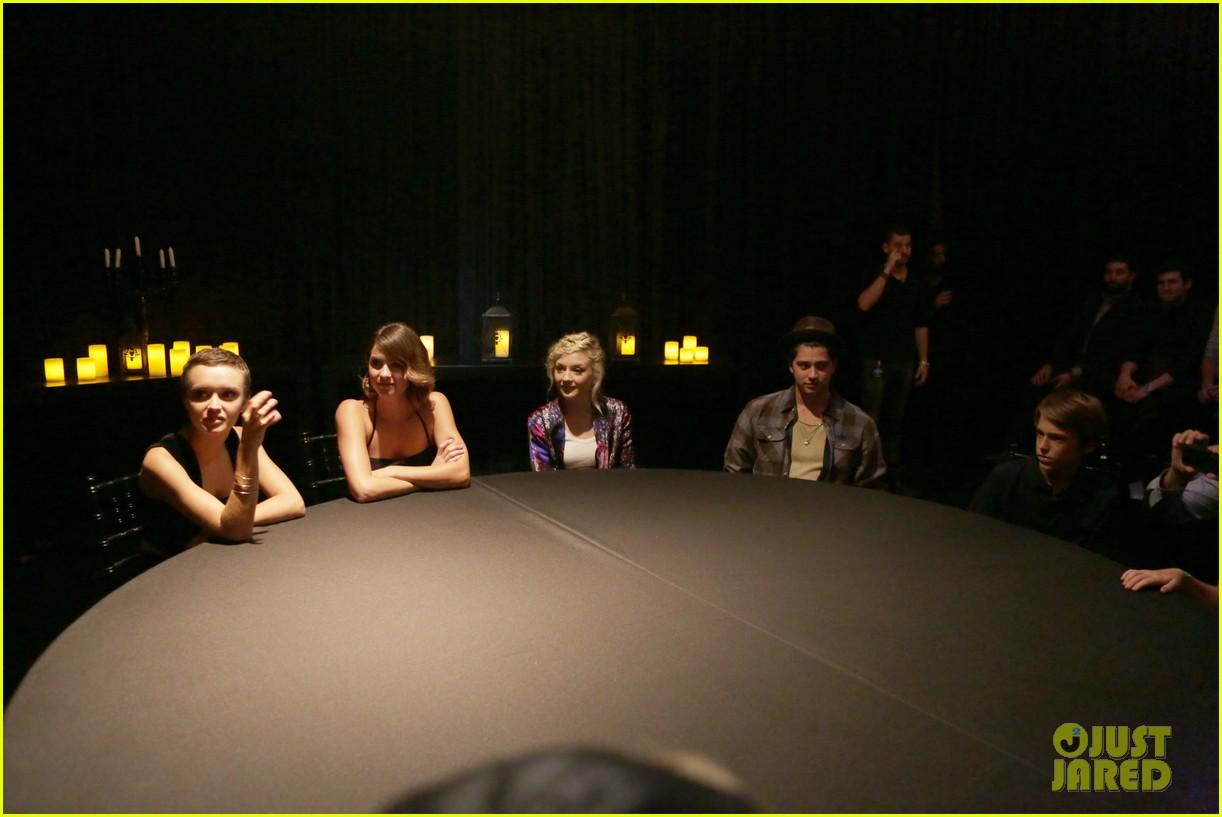 ouija cast joins spooky seance video 213223681