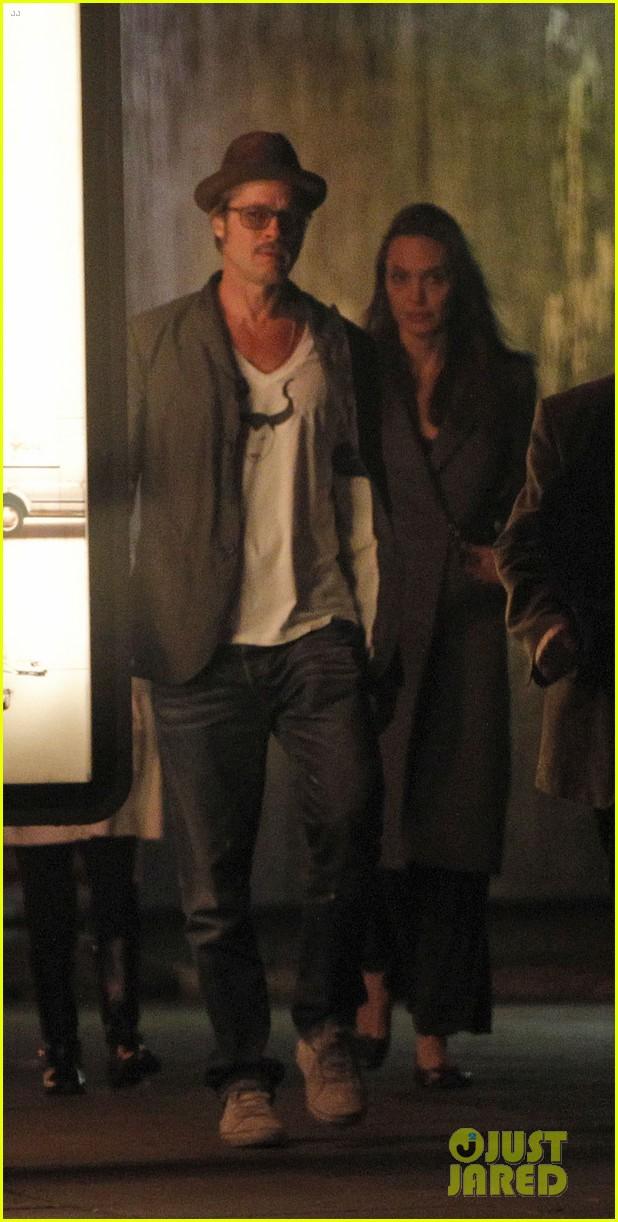 Brad Pitt Wears Homemade Maleficent Shirt With Angelina
