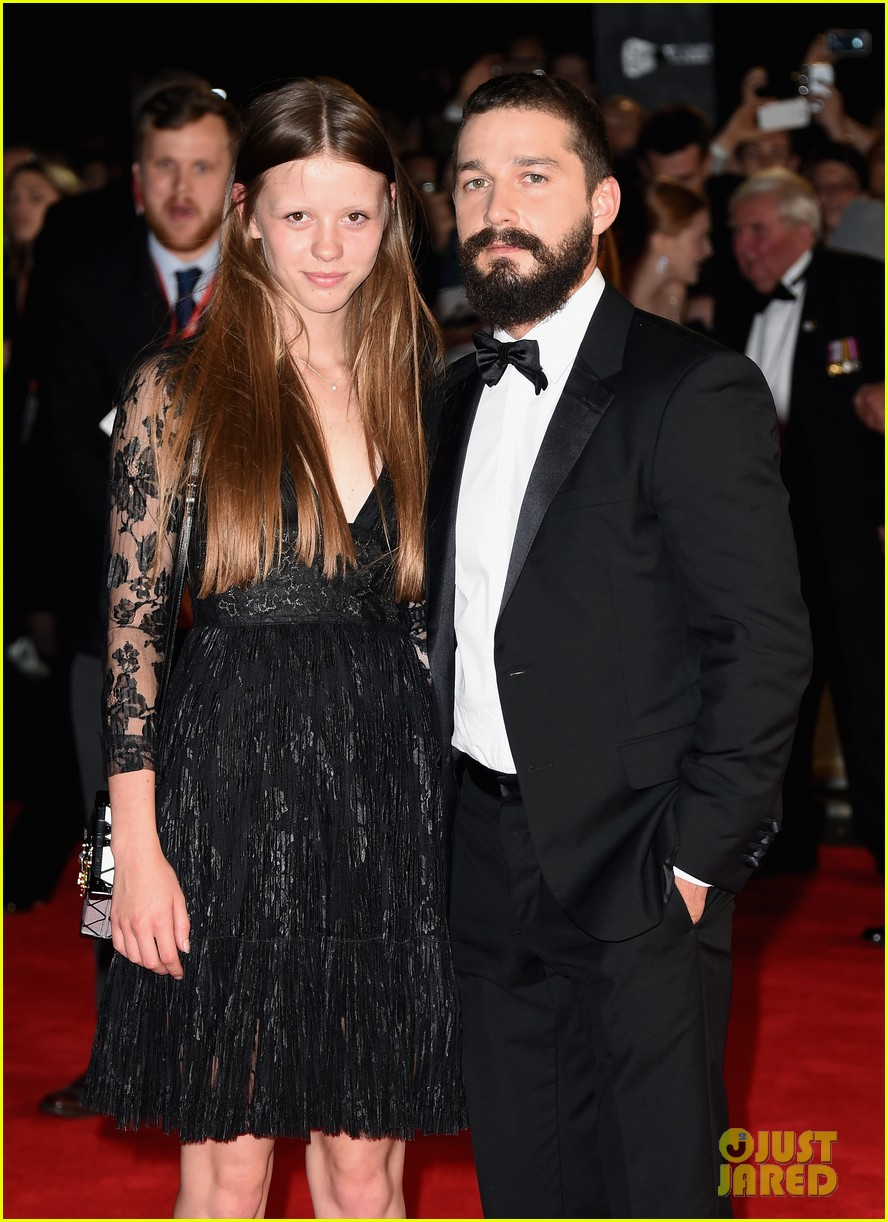 shia labeouf mia goth fury london premiere 033222516